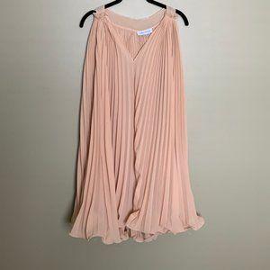 Chicwish peach pleated tunic tank dress
